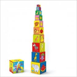 برج مکعب مقوایی - سنجاقک