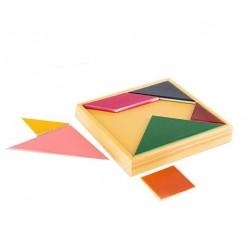 تانگو چوبی رنگی جعبه ای - تانگو پلاست