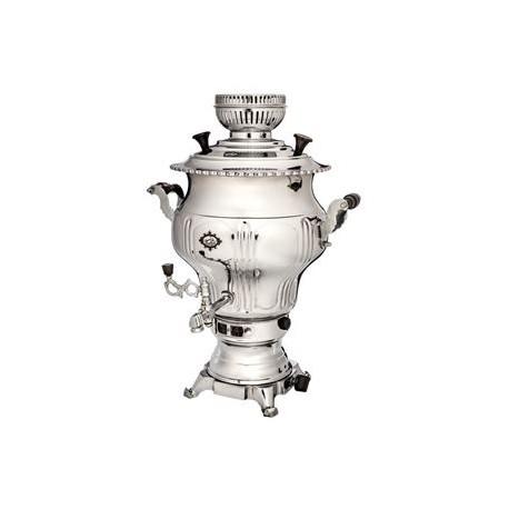 سماور گاز سوز نقشینه سیمین - 6 لیتری