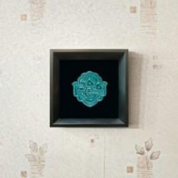 تابلو سرامیکی با لعاب فیروزه ای مهدی (عج) کد 1073 - ماهرشک