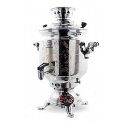 سماور گازی 8 لیتری تراش مجهز به ترموکوپل استاندارد GTM-220- زمردیان