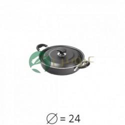 تابه دودسته دربدار تفلون سایز 24 (درب فلزی) - عروس تفلون