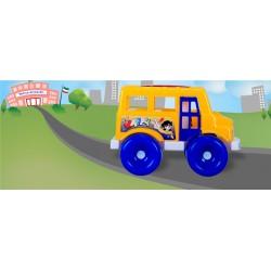 ماشين بازي زرين تويز مدل اتوبوس مدرسه | School Bus D1