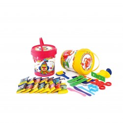 خمیر بازی سطلی 15 رنگ پلمپ دار کد 1056 - آریا