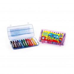پاستل 12 رنگ کیفی پلاستیکی کد 2010 - آریا