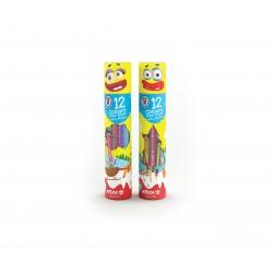 مداد رنگی 12 رنگ استوانه ای کد 3051 - آریا