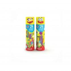 مداد رنگی 24 رنگ استوانه ای کد 3052 - آریا