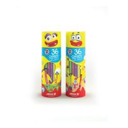 مداد رنگی 36 رنگ اسنوانه ای کد 3053 - آریا