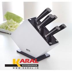 سرویس چاقوی آشپزخانه 6 پارچه کارال مدل پروشات