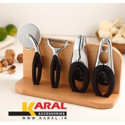 ابزار آشپزخانه کارال ست 5 پارچه مدل دایموند