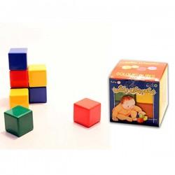 مکعب های رنگی پلاستیکی 8 تایی - با فرزندان